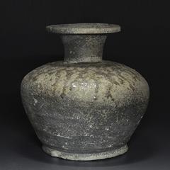 古美術 須恵器 灰釉長頸瓶