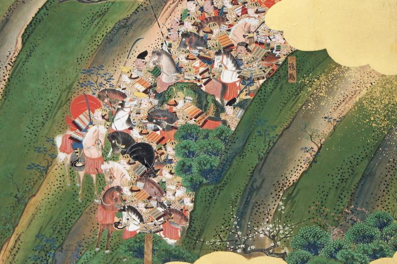 峻険な崖から逆落としをしかけて平氏本陣を奇襲する。