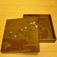 時代蒔絵千鳥硯箱